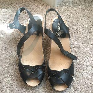 Swedish Hasbeens Kringlan Leather Heels